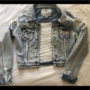 Distressed Guess Denim Jacket